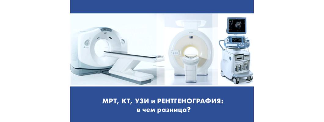 МРТ, КТ, УЗИ и рентгенография: в чем разница?
