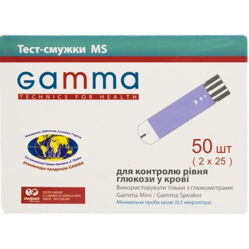 Тест-полоски для глюкометра Gamma MS №50