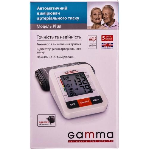 Тонометр автоматический с сетевым адаптером Gamma Plus