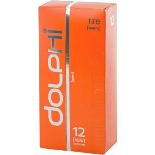 Презервативы Dolphi Lux Fire с разогревающим эффектом для женщин №12