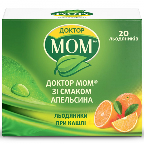 Доктор Мом пастилки от кашля апельсин №20