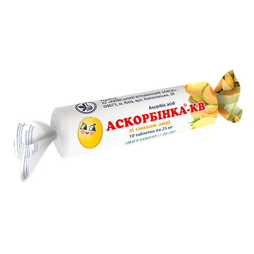 Аскорбинка-КВ со вкусом дыни табл 0.025г №10*