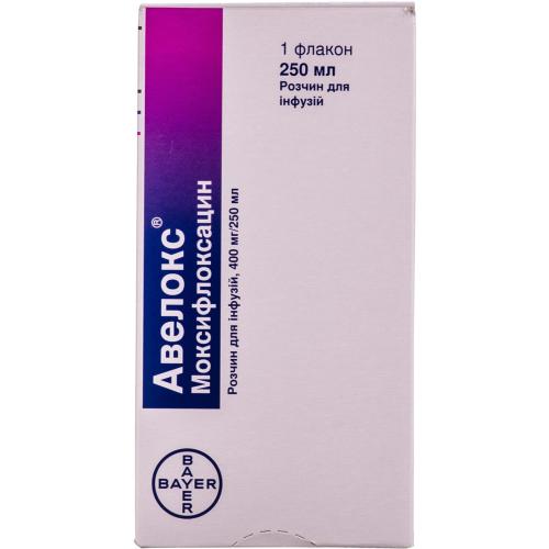 Авелокс раствор для инфузий 400мг/250мл по 250мл**