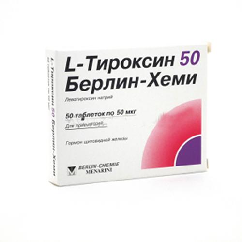 Л-тироксин табл 50мкг №50*